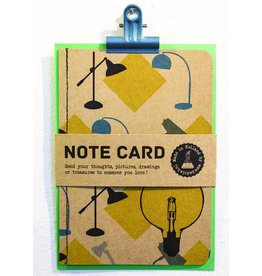 Kadolab Note card vintage lampen