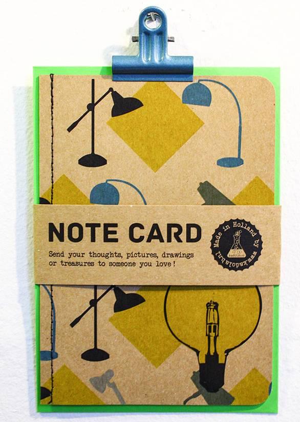 Note card vintage lampen