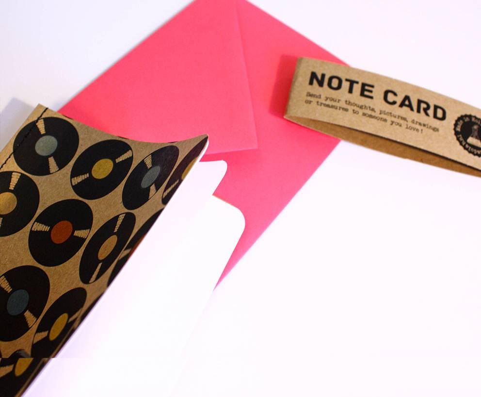 Note card elpee