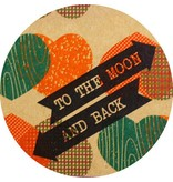 Note card to the moon & back