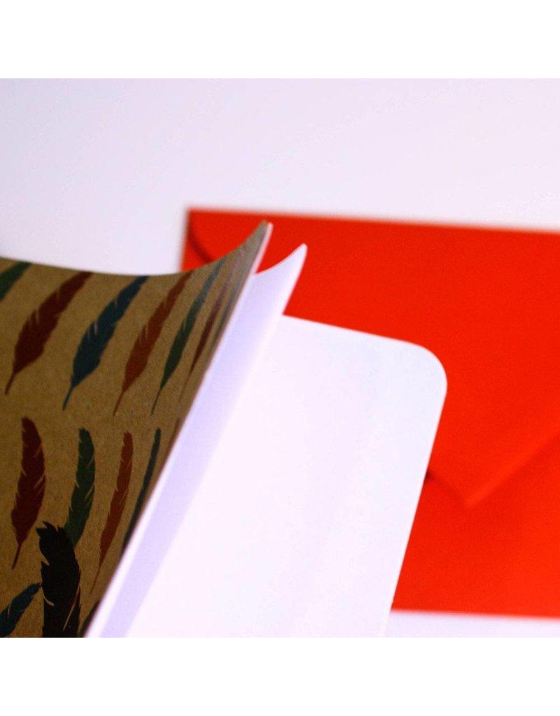 Note card veer & inktpot