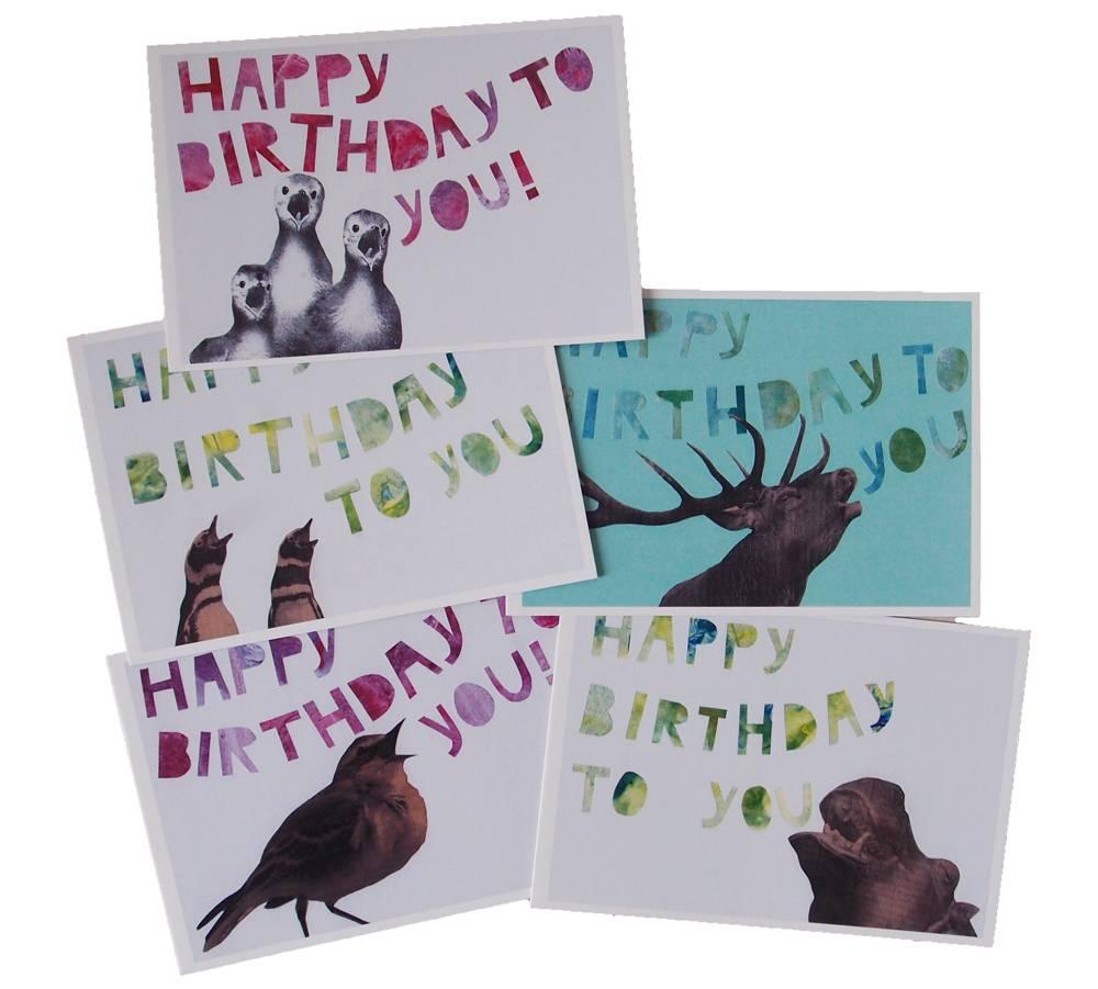 Kaartenset dubbele Happy Birthday!