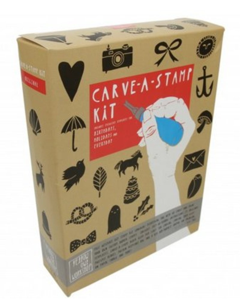 Carve-a-stamp stempel set
