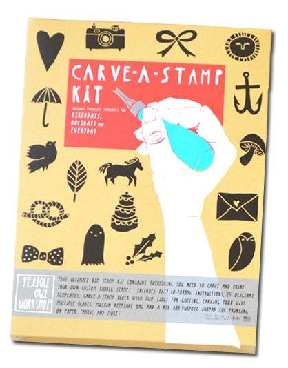 Carve-a-stamp stempel set