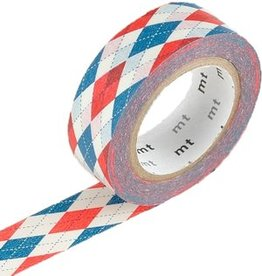 MT  MT masking tape argyle red