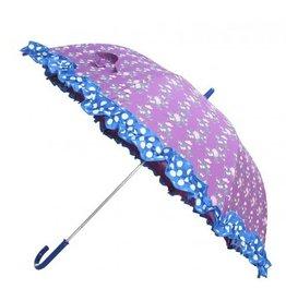 Zebra trends Paraplu paars met bloemen
