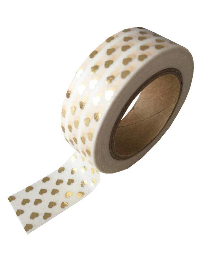 Masking tape gouden hartjes
