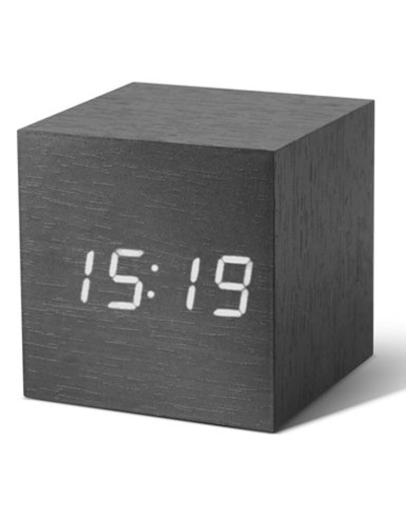 Click Clock cube zwart met witte led