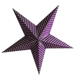 Kerstster purple flower met lichtsnoer