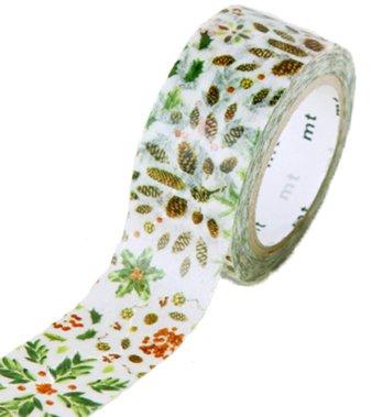 MT masking tape Kerst plant pattern