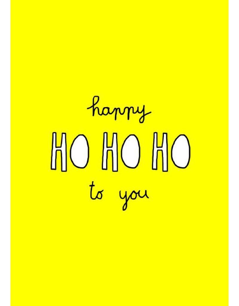 Kerstkaart Happy ho ho ho