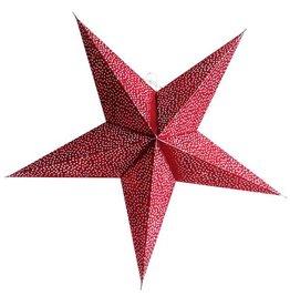 Kerstster sparkle red met lichtsnoer