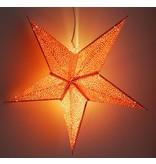 Kerstster sparkle red