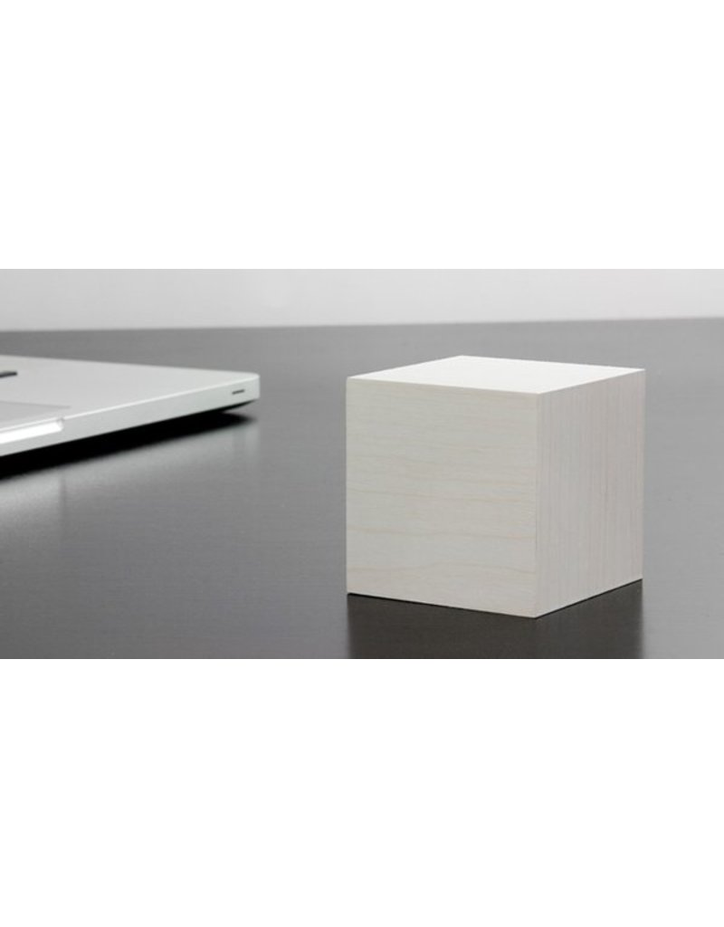 Click Clock cube wit met witte led