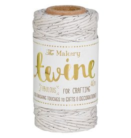The Makery Twine cream & silver