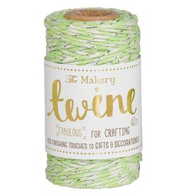 The Makery Twine lime & silver