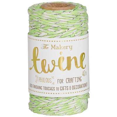 Twine lime & silver