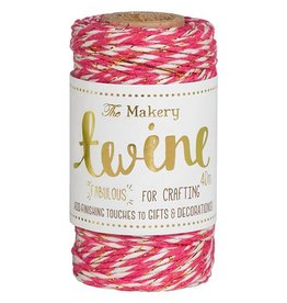 The Makery Twine strawberry & gold