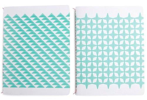 Set notebooks blue stars