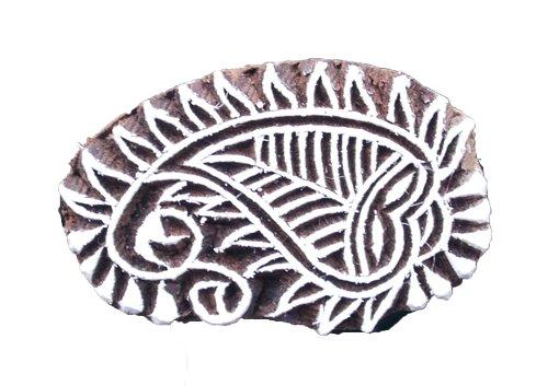 Textiel stempel leaf