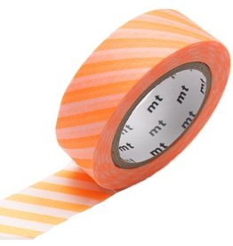 MT  MT washi tape stripe shocking orange