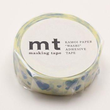 MT masking tape heart stamp blue