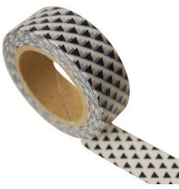 Masking tape triangel zwart