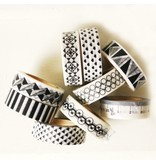 Masking tape triangel zwart
