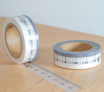 Masking tape ruler