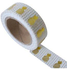 Masking tape pineapple white