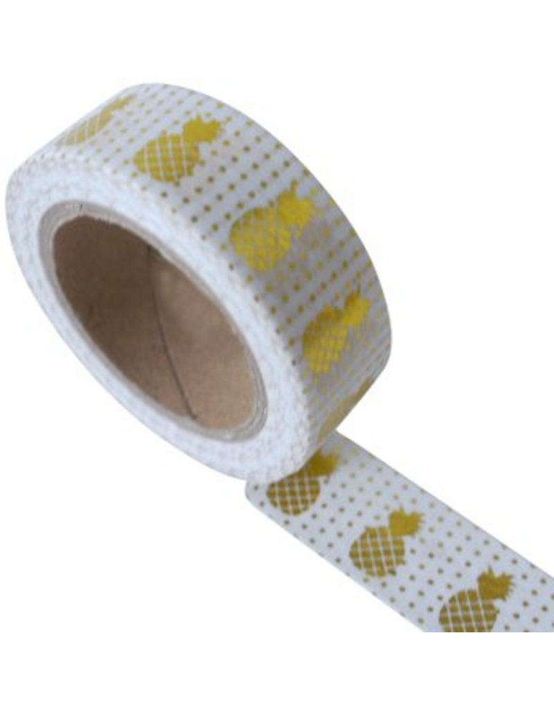 Masking tape pineapple white