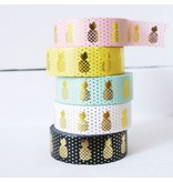 Masking tape pineapple pink