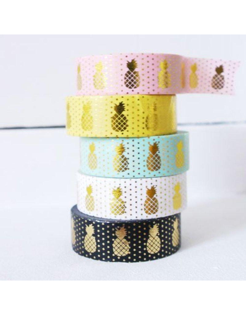 Masking tape pineapple mint