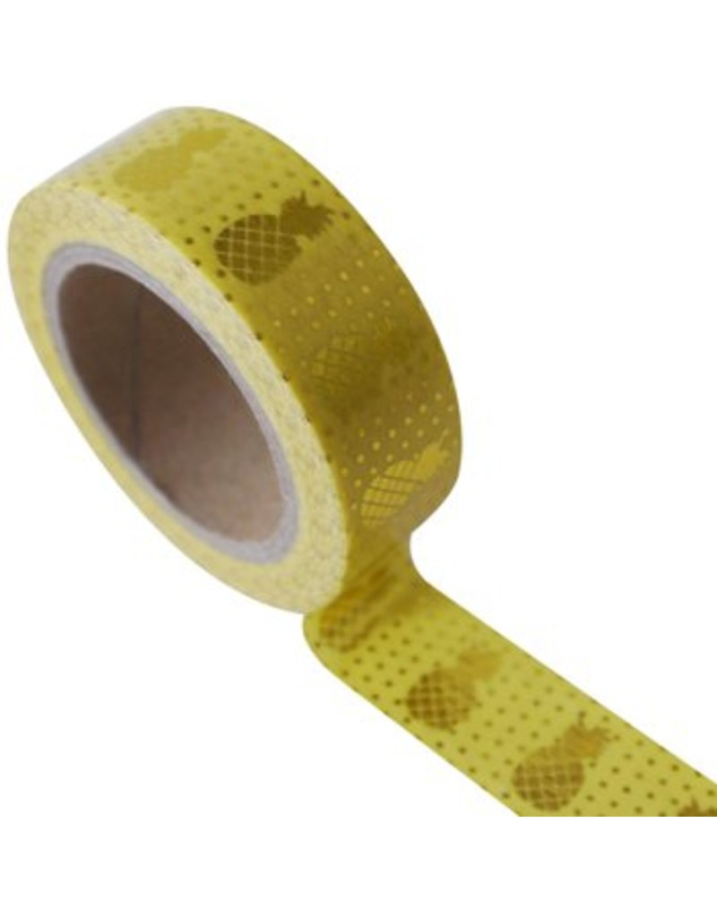 Masking tape pineapple yellow