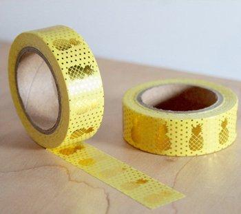 Masking tape pineapple yellow