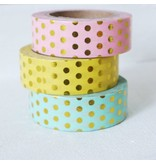 Masking tape yellow dot gold