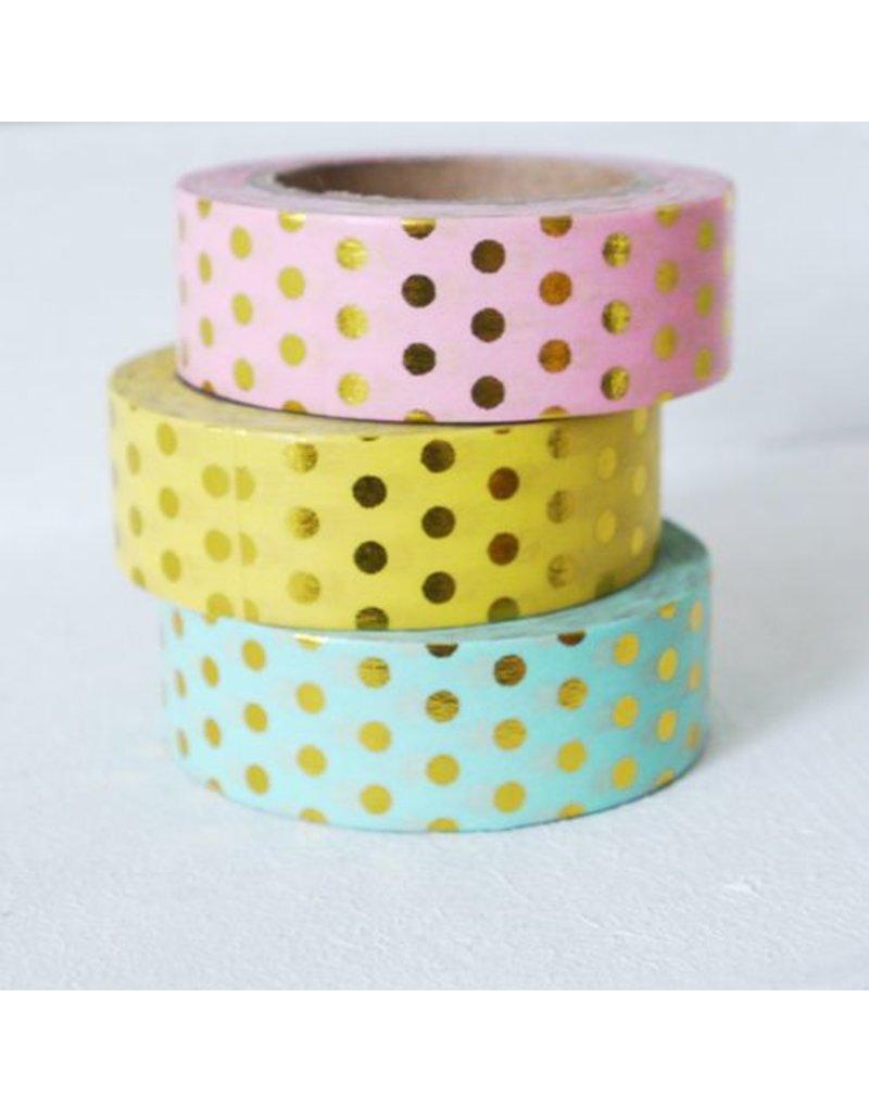 Masking tape yellow dot gold