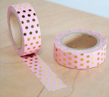 Masking tape pink dot gold