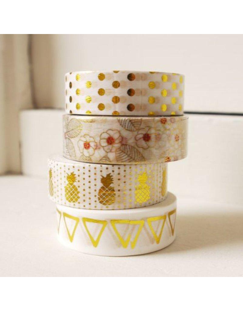 Masking tape flowery gold