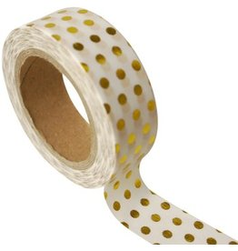 Masking tape gold dots