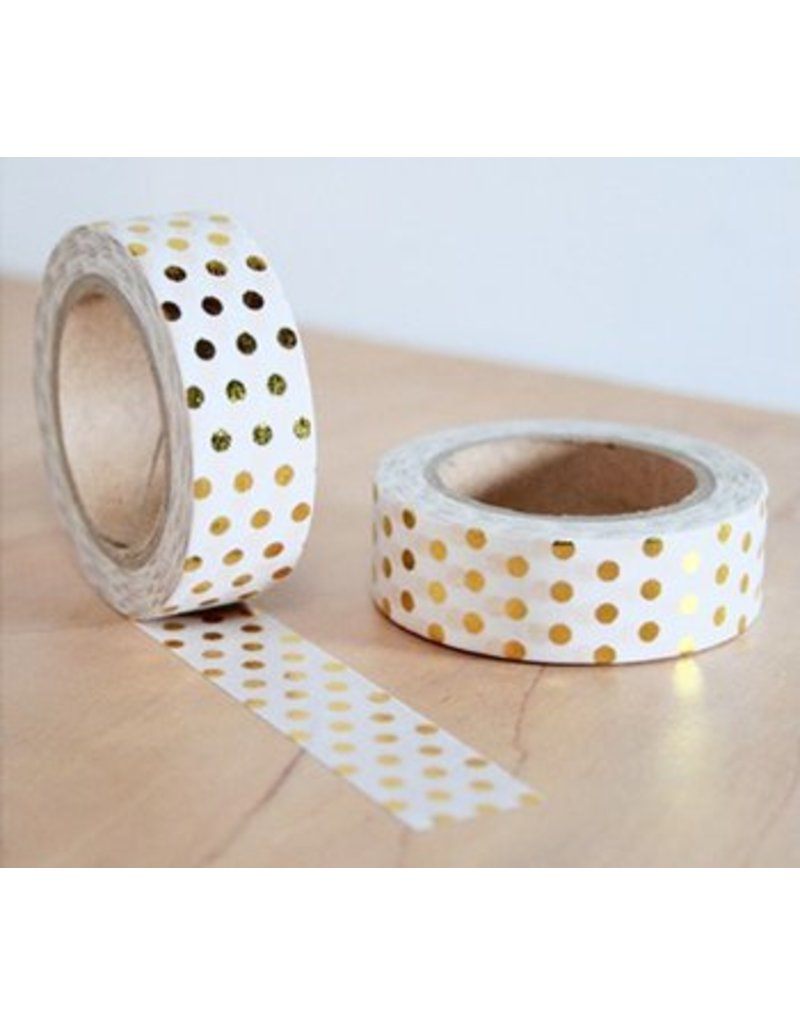 Masking tape gold dots