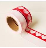 Masking tape rood hart