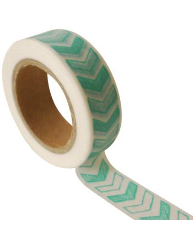 Masking tape arrow blue