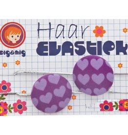 Dig&Mig Haar elastiekjes paarse hartjes