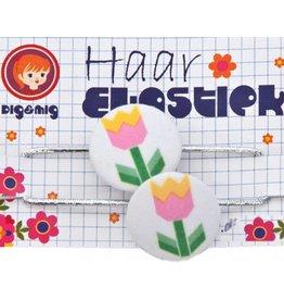 Dig&Mig Haar elastiekjes tulp