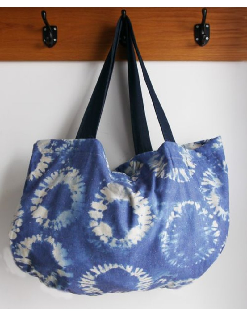 Sling beach bag blue