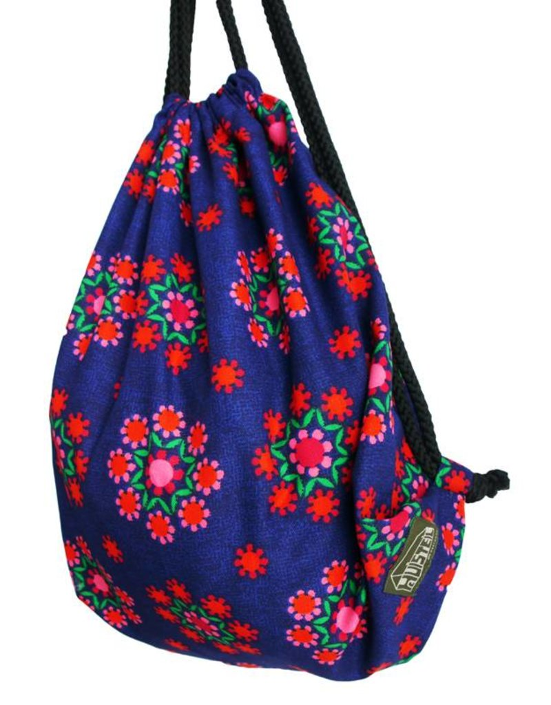 Backsack Huisteil funky blue
