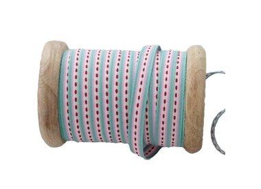 houten klossen met lint