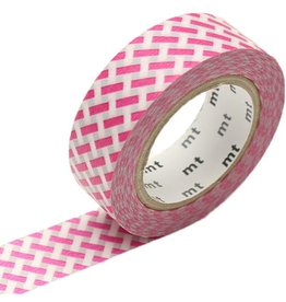 MT  MT masking tape net check pink