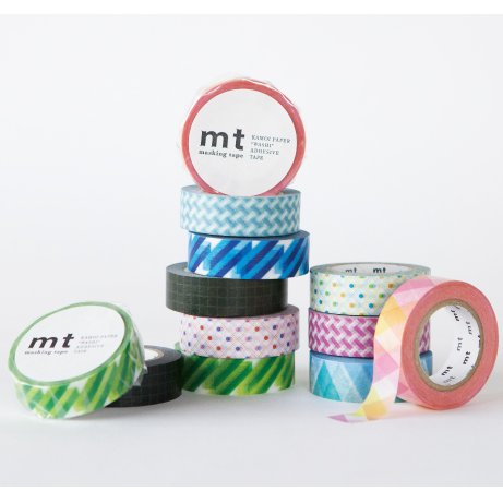 MT masking tape net check blue